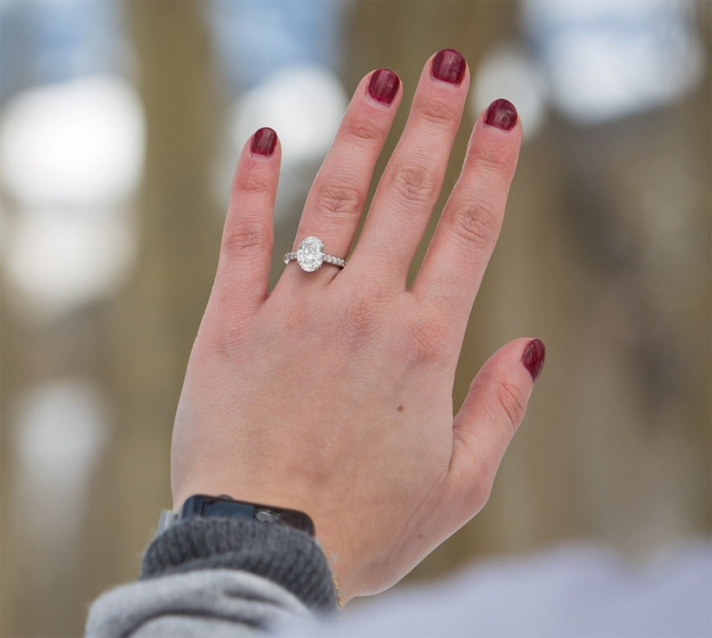 ski proposal engagement ring