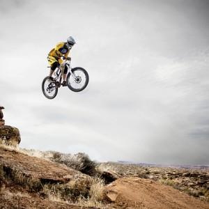 A dirt bike