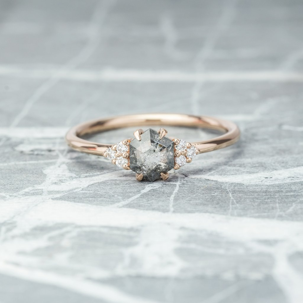 hexagon engagement ring PNPS