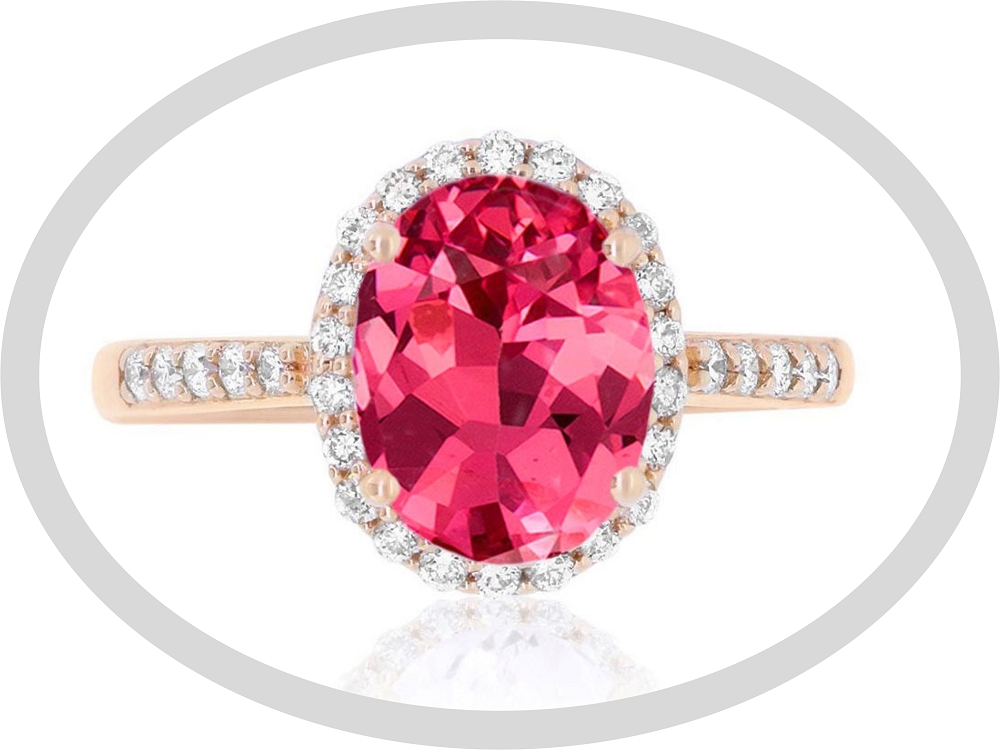 Spinel engagement ring