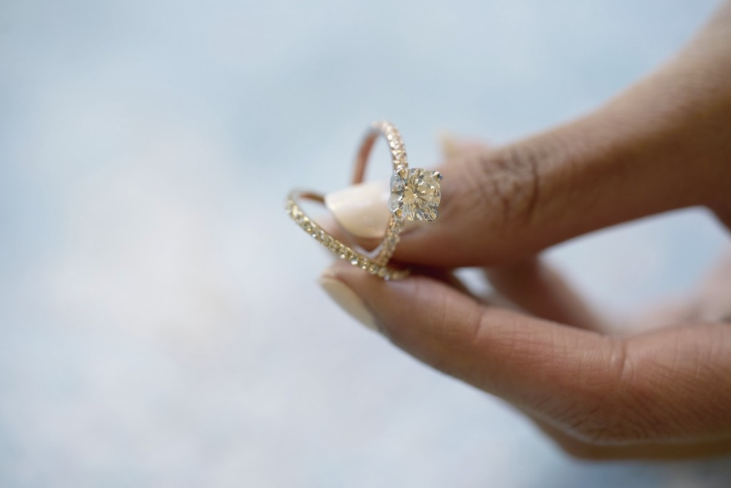 Altair Engagement Ring + Milky Way Ring