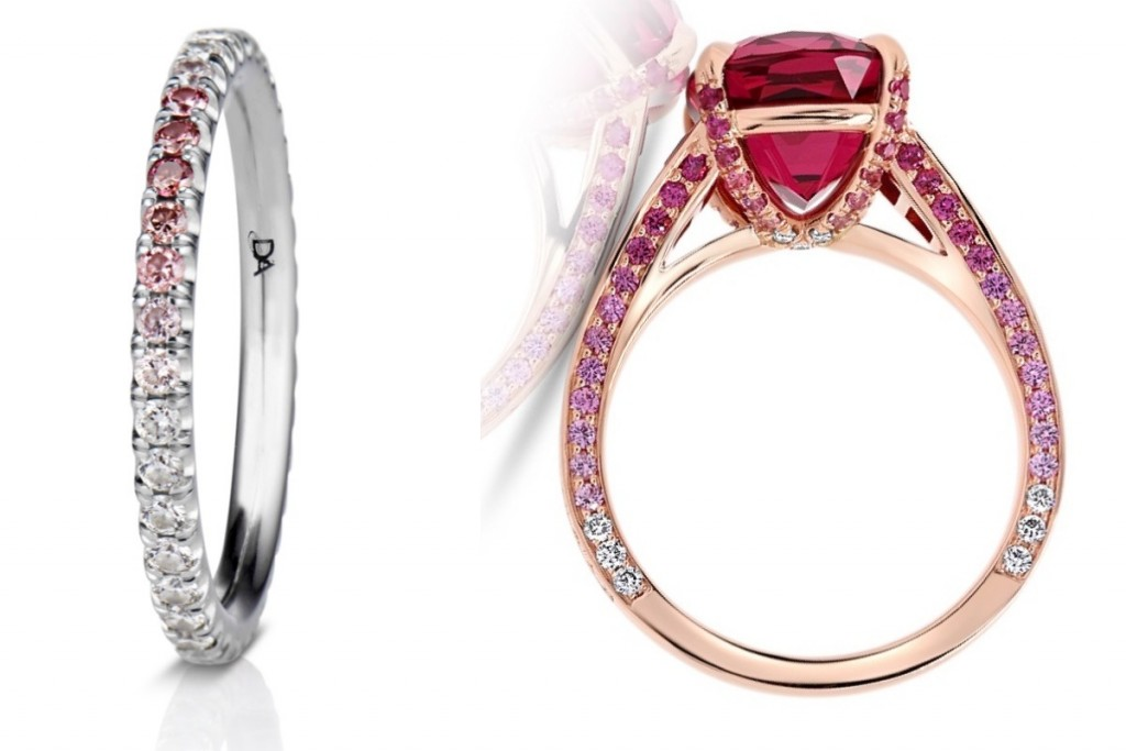 Add a Pink Ombré Band to Your Ring Stack