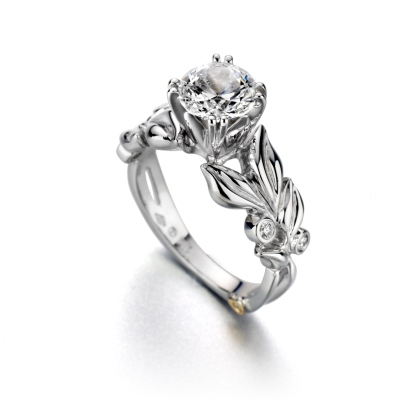 Pretty Floral Design Engagement Rings Wedding Bands Pinterest
